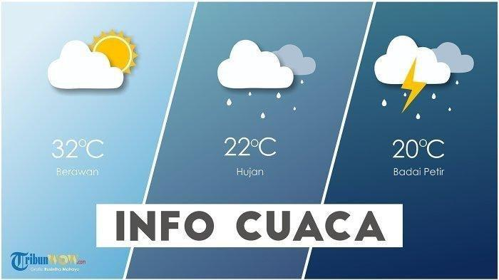 Info BMKG - Prakiraan Cuaca 33 Kota Besok, Minggu 1 Maret 2020: Hujan Petir di Bengkulu dan Surabaya