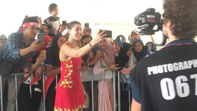 Dapat Dukungan Dari Fans Indonesia, Carolina Marin: Saya Nyaman di Sini