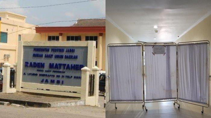 Pasien Terduga Corona di RSUD Raden Mattaher Jambi Disiapkan Ruangan Khusus, Ada Papan Peringatan