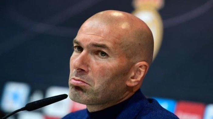 Pelatih Real Madrid, Zinedine Zidane Merasa Frustasi setelah Jalani Pekan yang Berat