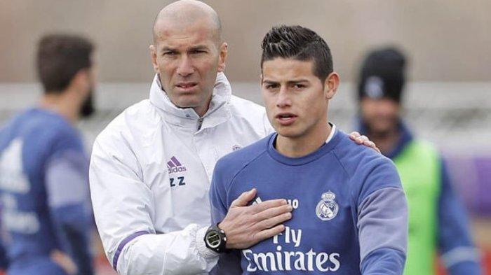 Di Real Madrid James Rodriguez Mempunyai Hubungan yang Buruk dengan Zinedine Zidane